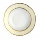 service de vaisselle en porcelaine complet, Assiette 22,5 cm ronde creuse en porcelaine - Impression Chatoyante