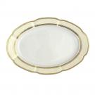 service complet en porcelaine, art de la table, Plat 33 cm ovale en porcelaine - Impression Chatoyante
