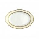 Ravier 24 cm ovale en porcelaine - Impression Chatoyante