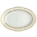 Plat 36 cm ovale en porcelaine - Impression Chatoyante