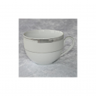 Tasse petit déjeuner en porcelaine, service de vaisselle en porcelaine blanc, art de la table et porcelaine