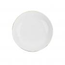 Assiette calotte blanche avec liseré doré, art de la table et porcelaine, service de vaisselle blanc avec galon d'or