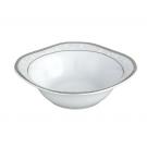 Saladier carré 20 cm Bosquet Argenté en porcelaine, service de table complet en porcelaine