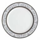 service de table en porcelaine blanche, vaisselle galon platine, assiette plate