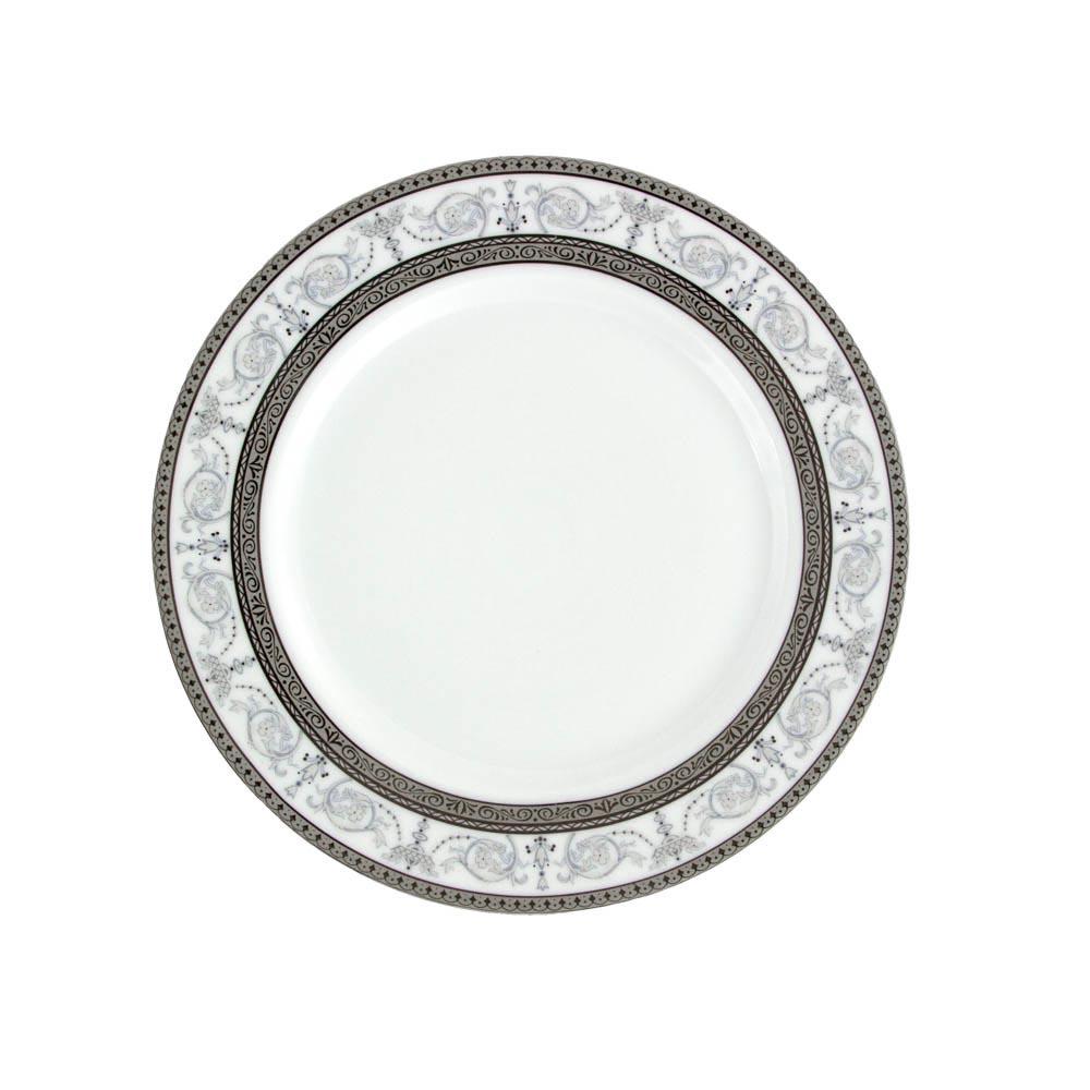 Assiette Plate Ronde Aile 21 Cm Palais Royal Porcelaine