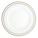 art de la table, service de table complet en porcelaine blanche, vaisselle galon or, assiette plate