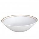 art de la table, service de table complet en porcelaine blanche, vaisselle galon or, saladier rond