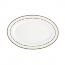 art de la table, service de table complet en porcelaine blanche, vaisselle galon or, ravier