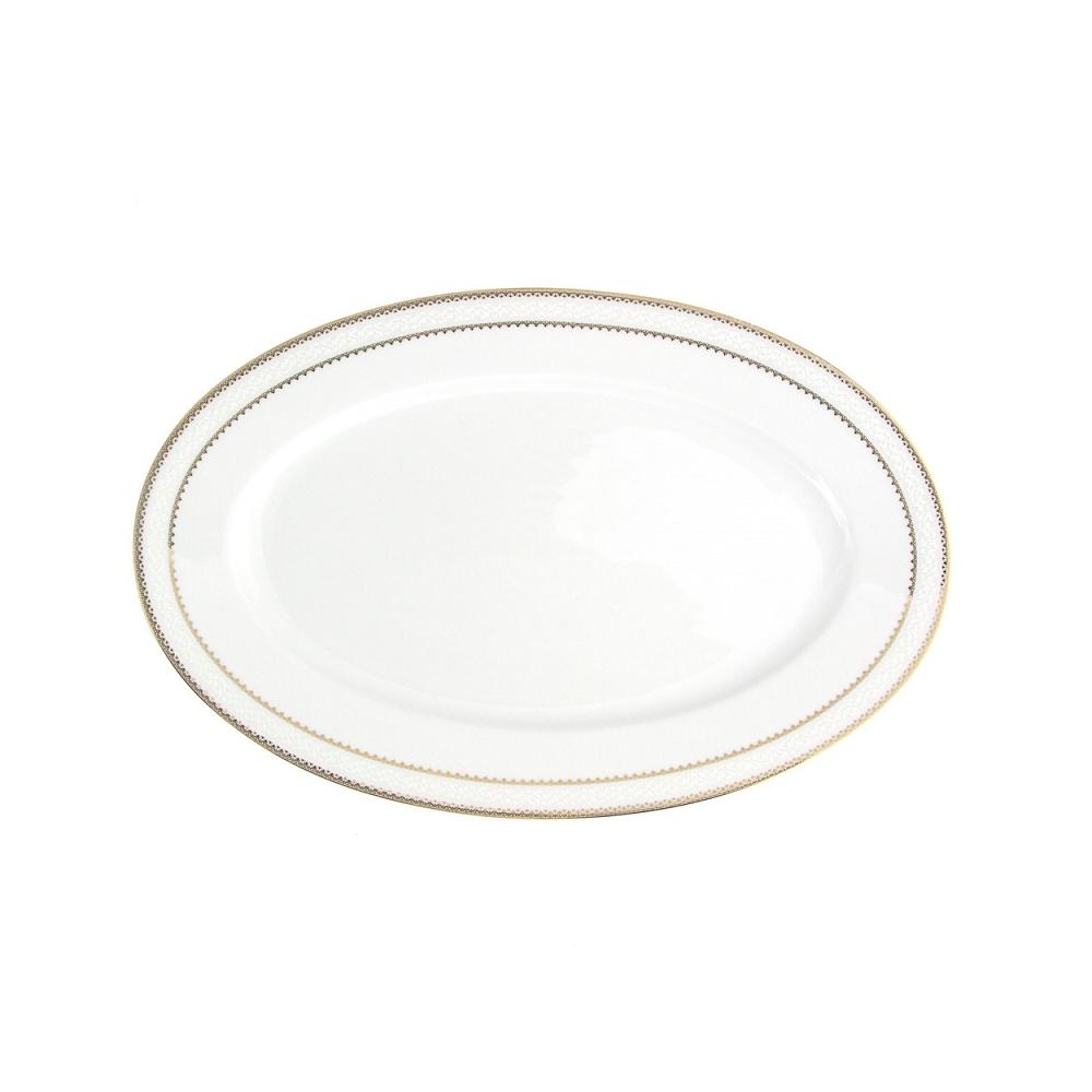 tasse assiette plat ovale 33 cm en porcelaine boh mienne. Black Bedroom Furniture Sets. Home Design Ideas