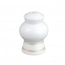 art de la table, service de table complet en porcelaine blanche, vaisselle galon or, salière