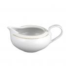 art de la table, service de table complet en porcelaine blanche, vaisselle galon or, saucière en porcelaine