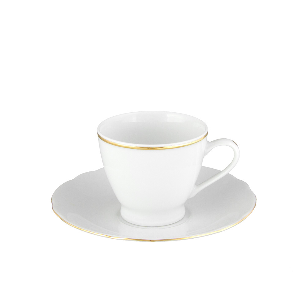 tasse caf 100 ml en porcelaine d cor e avec soucoupe. Black Bedroom Furniture Sets. Home Design Ideas