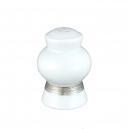 service de table complet en porcelaine blanche, vaisselle galon platine, salière