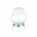 service de table complet en porcelaine blanche, vaisselle galon platine, poivrier
