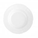 service de table complet, vaisselle en porcelaine blanche, assiette 22,5 cm ronde creuse, art de la table