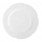 service de table complet, vaisselle en porcelaine blanche, assiette 27 cm ronde plate, art de la table
