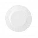 service de table complet, vaisselle en porcelaine blanche, assiette dessert ronde plate 19 cm, art de la table