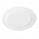 service de table complet, vaisselle en porcelaine blanche, plat de service 33 cm ovale, art de la table