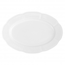 service de table complet, vaisselle en porcelaine blanche, plat de service ovale 36 cm, art de la table