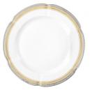 service de table complet, vaisselle en porcelaine véritable, assiette ronde plate 27 cm, art de la table