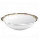 saladier rond, service de table complet, vaisselle en porcelaine blanche galon or, galon platine, art de la table, style ancien