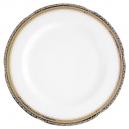 plat rond, service de table complet, vaisselle en porcelaine blanche galon or, galon platine, art de la table, style ancien