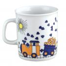 art de la table, service en porcelaine pour enfant, mug 220 ml Tchou Tchou, design train