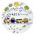 art de la table, service en porcelaine pour enfant, assiette plate 19 cm Tchou Tchou, design train