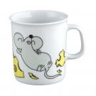 art de la table, service en porcelaine pour enfant, mug 0,22 l Souricette