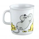 art de la table, set en porcelaine pour enfant, mug 0,22 l Souricette