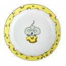art de la table, service pour enfant, assiette creuse 19 cm Souricette en porcelaine