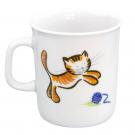 art de la table, set en porcelaine pour enfant, mug 0,22 l Chat Joueur, motif chat