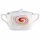 art de la table, service de table complet en porcelaine, soupière 3000 ml Tourbillon Fruité en porcelaine