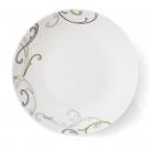 Assiette creuse ronde 22 cm Myosotis en porcelaine