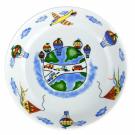 art de la table, set en porcelaine pour enfant, assiette creuse 19 cm en porcelaine Bleuet, motif avion voiture montgolfière