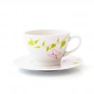Tasse à thé 0,28 l  avec soucoupe Gerbera en porcelaine