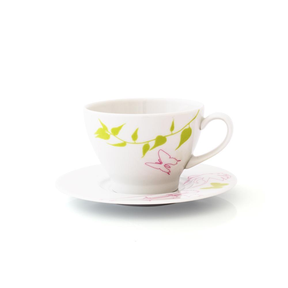 tasse th 280 ml avec soucoupe ronde lavat re en porcelaine. Black Bedroom Furniture Sets. Home Design Ideas