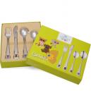Couverts pour enfants : cuillère, couteau, fourchette, petite cuillère
