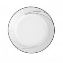 Assiette plate ronde à aile 17 cm Cristal Eternel en porcelaine, assiette porcelaine galon de platine, agenté
