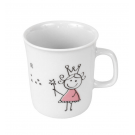 Mug 220 ml Dessines moi une petite fille en porcelaine, art de la table, porcelaine