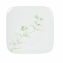 Assiette plate carrée 19 cm Solanum en porcelaine