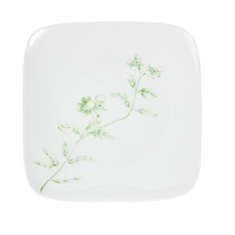 assiette plate carr e 19 cm solanum en porcelaine. Black Bedroom Furniture Sets. Home Design Ideas