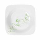 Assiette creuse carrée 20,5 cm Solanum en porcelaine