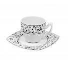 Tasse à café 0,1 l avec soucoupe Fleur de Pommier en porcelaine