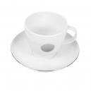 Tasse à café 0,2 l avec soucoupe Forsythia en porcelaine