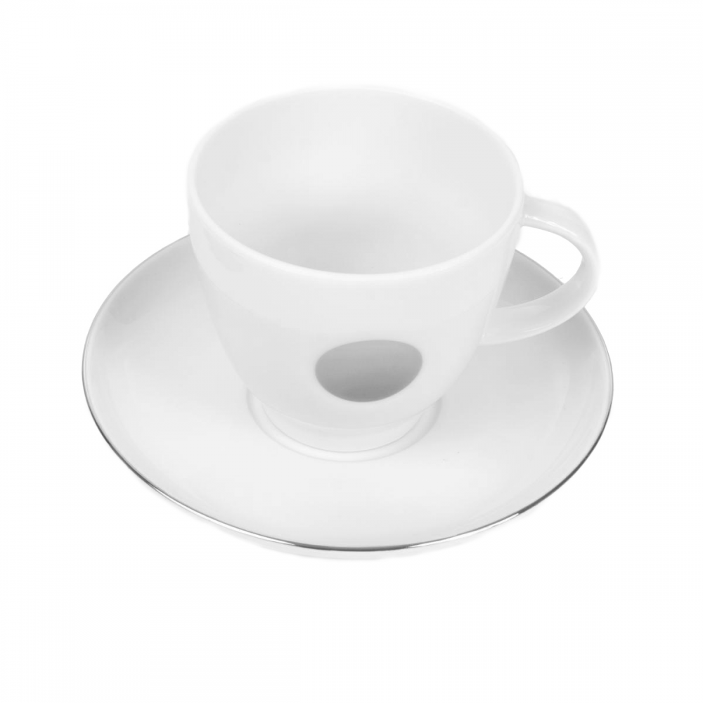 Petite Tasse Cafe Avec Insigne Basque Gris