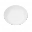 Assiette calotte 21 cm Forsythia en porcelaine
