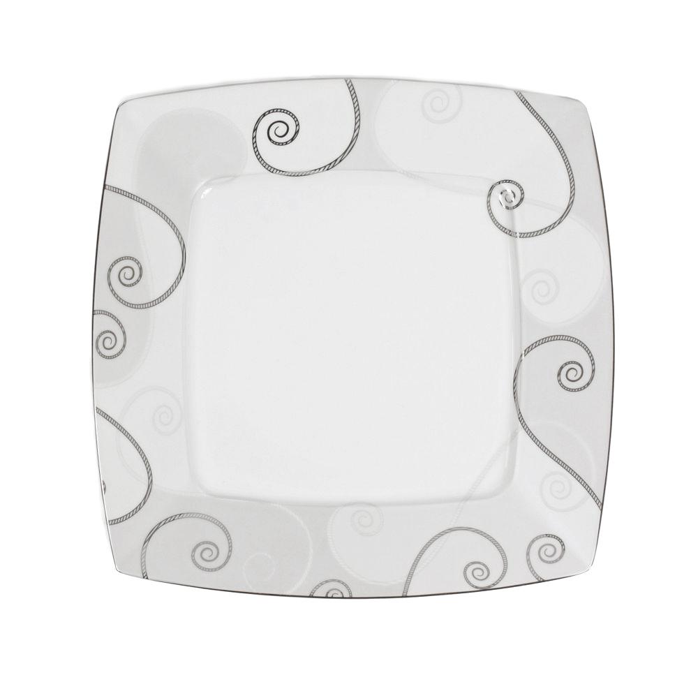 tasse assiette assiette plate carr e 25 7 cm lavande. Black Bedroom Furniture Sets. Home Design Ideas