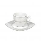 Tasse à café 0,1 l avec soucoupe Rose en porcelaine
