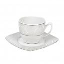 Tasse à thé 0,2 l avec soucoupe Rose en porcelaine